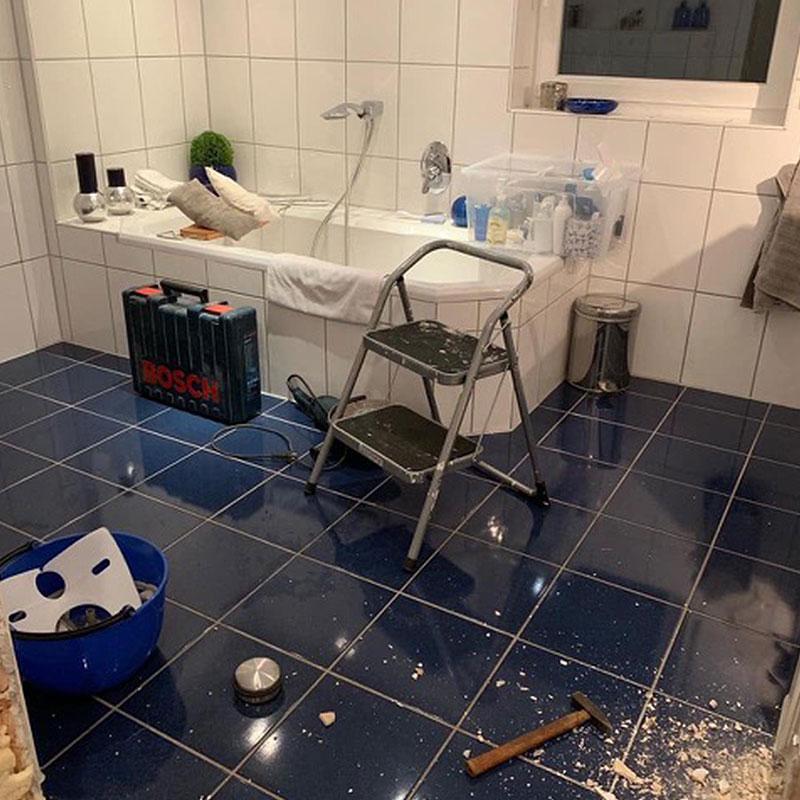 Badezimmer alt Umbau
